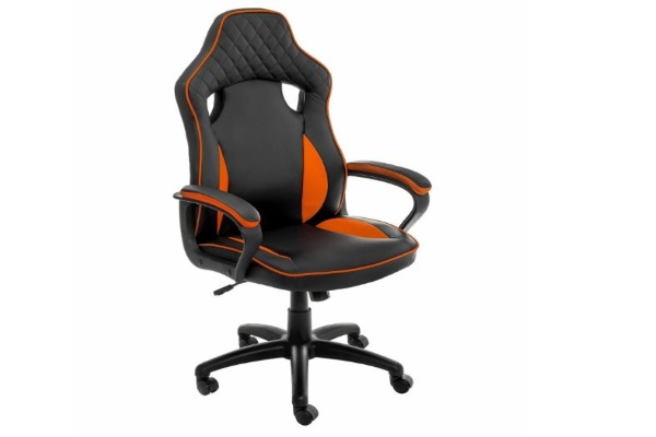 Компьютерное кресло Anger черное / оранжевое купить в салоне-студии мебели Барселона mnogospalen.ru много спален мебель Италии классические современные