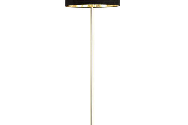 39228 Торшер DOLORITA с ножн. выкл., 3х60W(E27), ?500, H1620, сталь, хром/текстиль, черный, золотой купить в салоне-студии мебели Барселона mnogospalen.ru много спален мебель Италии классические современные